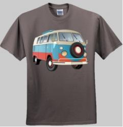 VW Kombi Camper - Men and Women's 'Gildan' Slim T-Shirt
