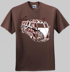 Psychedelic VW Kombi Men and Women's T-shirt