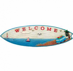 RETRO VW KOMBI SURFBOARD WELCOME SIGN
