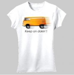 Keep on dakin'! VW Kombi Design - Women's 'Gildan' Slim T-Shirt