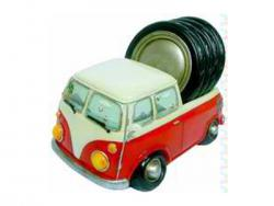 VW KOMBI UTE GLASS DRINK COASTERS