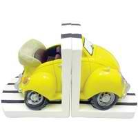 Yellow VW Beetle Bookends