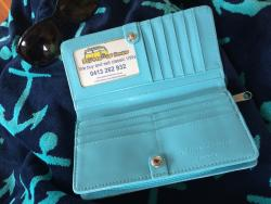 Blue VW Kombi Surfari Wallet Purse