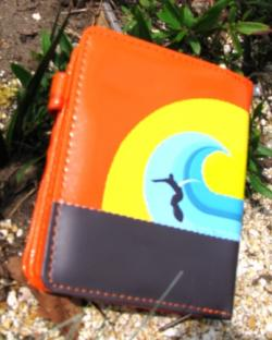 Catch a Wave Kombi Wallet - Surfing Sunset Orange