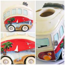 VW KOMBI TOOTH BRUSH STAND HOLDER CERAMIC - BATHROOM