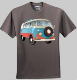 VW Kombi Camper - Men and Women's 'Gildan' Slim T-Shirt