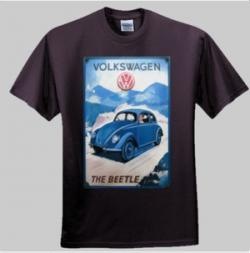 Retro VW Beetle Ad Design - Men and Women's 'Gildan' Slim T-Shirt