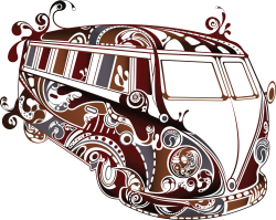 Psychedelic VW Kombi Organic Men and Women's T-shirt